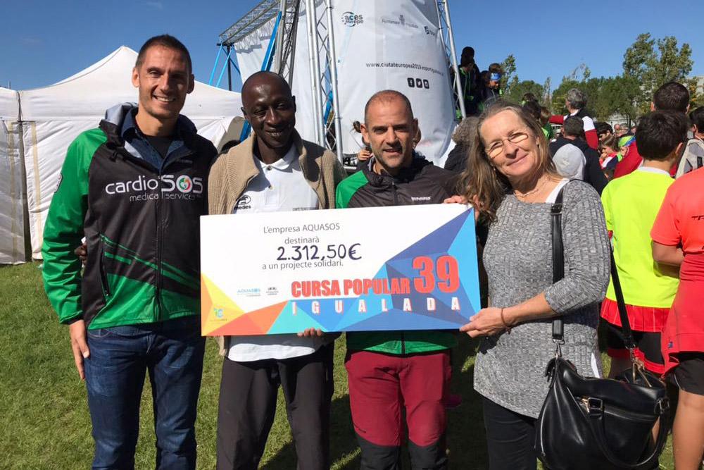 Aquasos fa un donatiu a la Fundació Kalilu Jammeh de Gàmbia