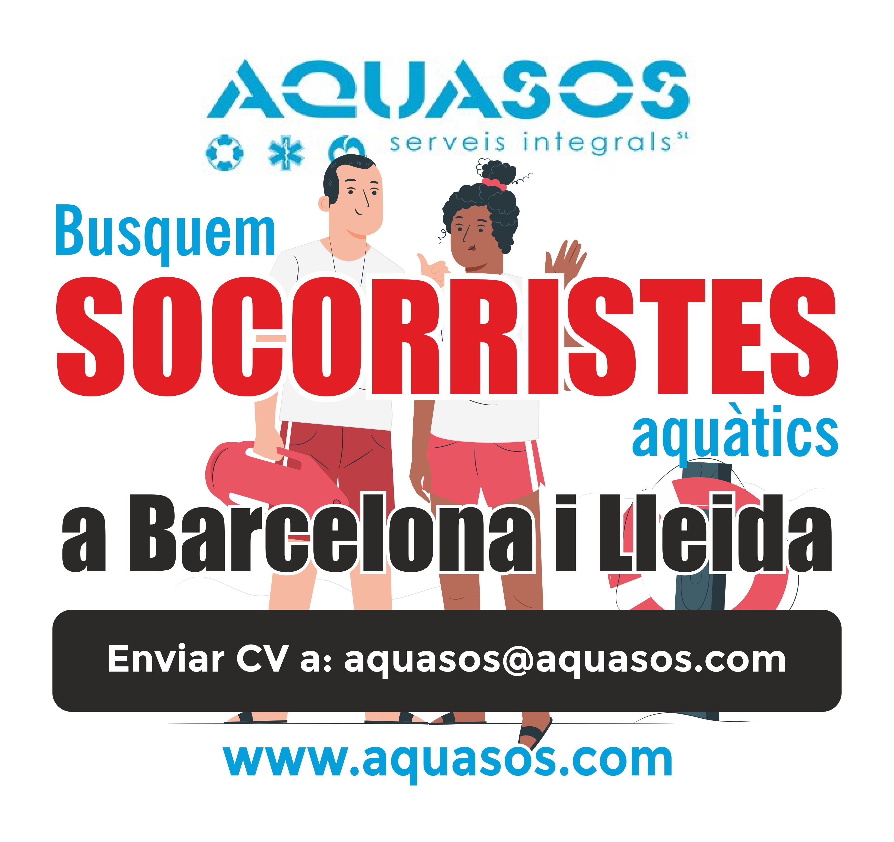 Busquem Socorristes per a les piscines de Barcelona i Lleida