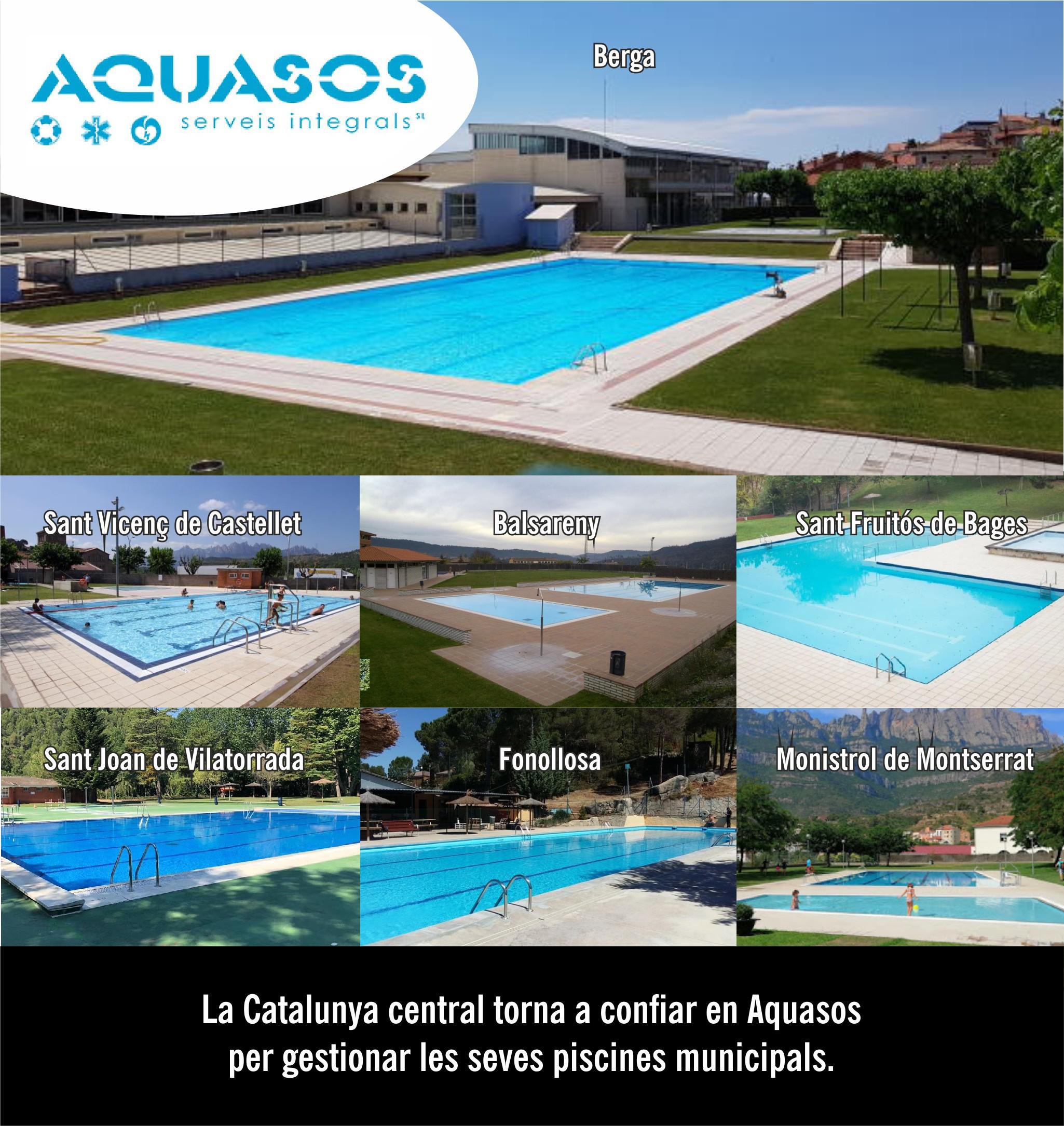 La Catalunya central torna a confiar en Aquasos per gestionar les seves piscines municipals