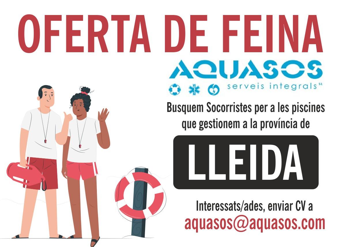 Busquem socorristes a Lleida