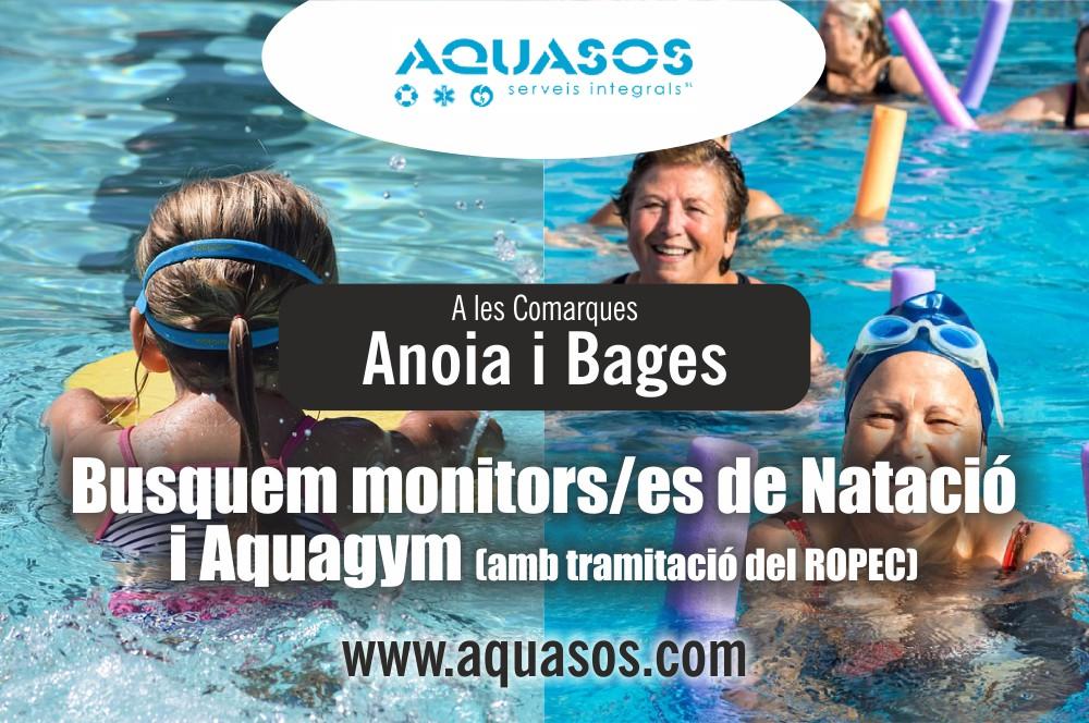 Busquem monitors/es de natació y aquagym a les comarques de l'Anoia i el Bages