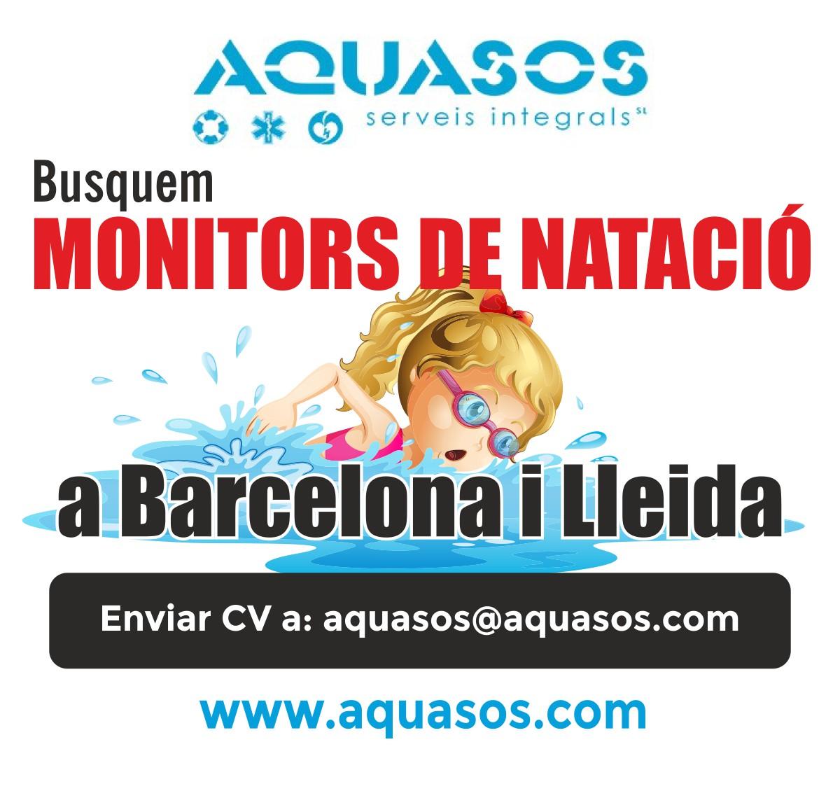 Busquem Monitors de natació per a les piscines de Barcelona i Lleida