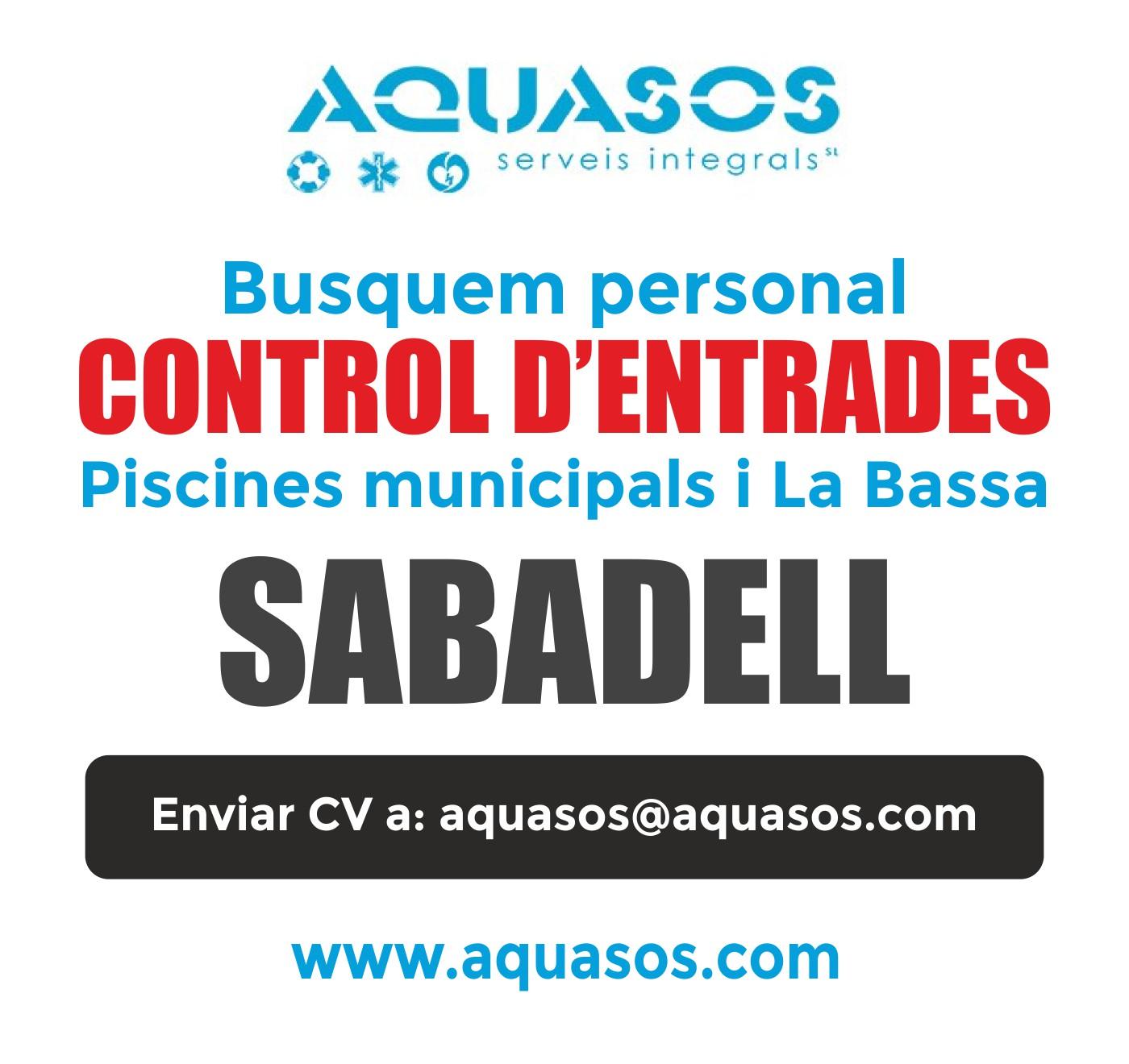 Busquem personal per al Control d'entrades a les piscines de Sabadell