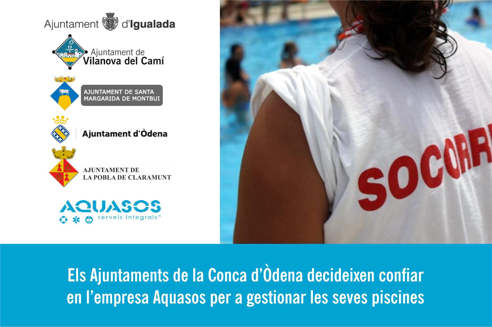 Els ajuntaments de la Conca d'Òdena aposten pels socorristes d'Aquasos